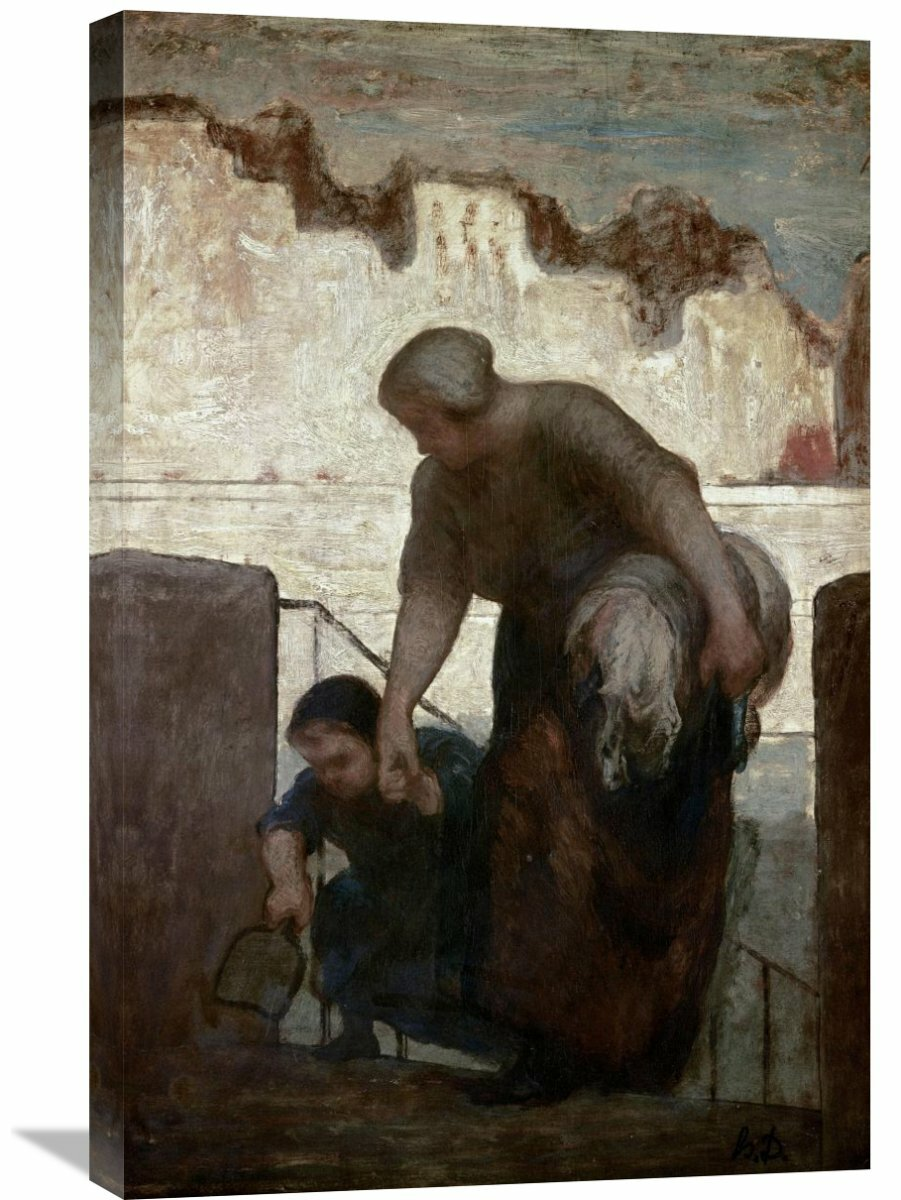 Global Gallery Laundress By Honore Daumier Painting Print On Wrapped Canvas Wayfair