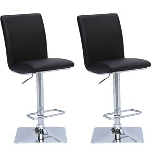 Chappelle Adjustable Height Swivel Bar Stool (Set of 2) Orren Ellis