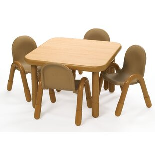 Price comparison Square Baseline Preschool Table and Chair Set in Natural By Angeles