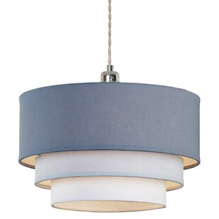 Ceiling lamp shades wayfair ormond by the sea 3 tier 28cm linen drum pendant shade aloadofball Images