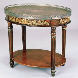 Rochele Hand-Painted Coffee Table with Tray Top