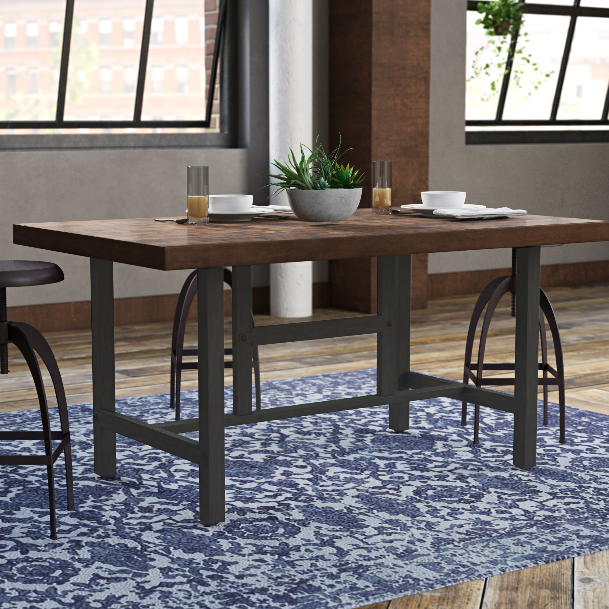 Williston Forge Charline Standard Height Dining Table Reviews Wayfair