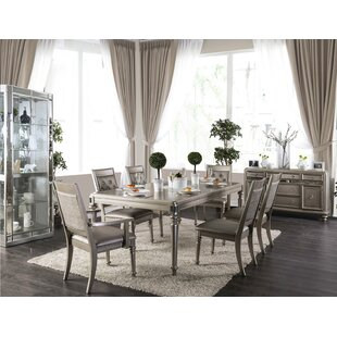 Crystal Extendable Dining Table Rosdorf Park