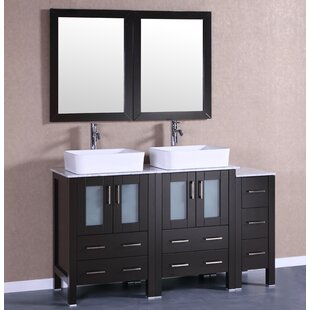 Roosevelt 60 Double Bathroom Vanity Set with Mirror by Bosconi