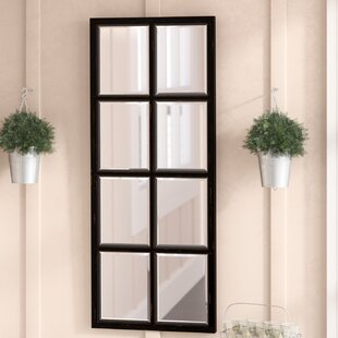 Gracie Oaks Vannucci Windowpane Accent Mirror