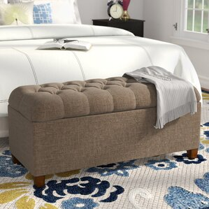 Buying Halvorson Fabric Storage Bench by Andover Mills
