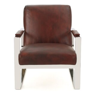 Far West Leather Armchair by Wade Logan