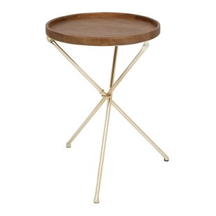 Metal and Wood Tray Table