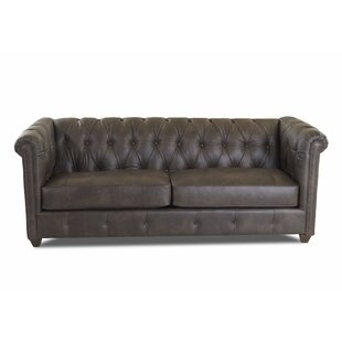 Kiana Leather Sofa by Darby Home Co