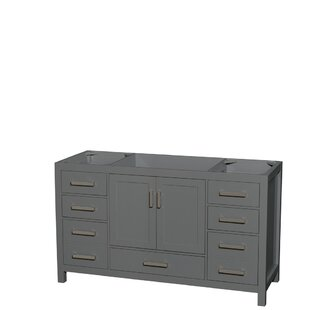 Sheffield 60 Single Bathroom Vanity Base by Wyndham Collection