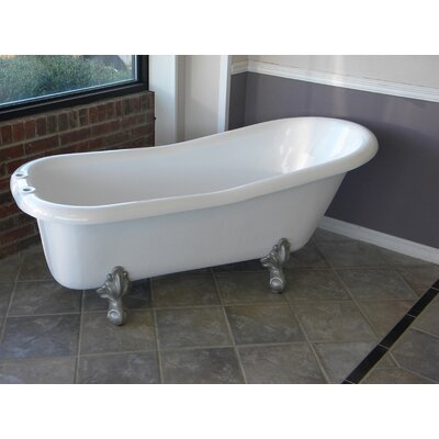 "Restoria Bathtub Company Imperial 66"" x 30"" Freestanding Bathtub Colour: Brushed Nickel"