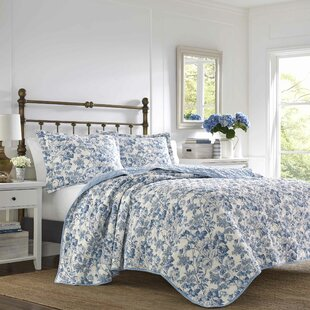 Aimee Cotton Reversible Quilt Set by Laura Ashley Home