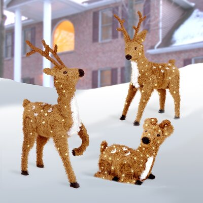 Reindeer Outdoor Christmas Decorations You'll Love | Wayfair.ca