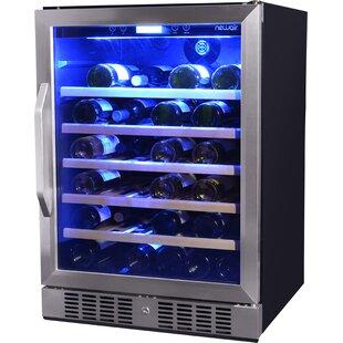 52 Bottle Single Zone Built-In Wine Refrigerator by NewAir