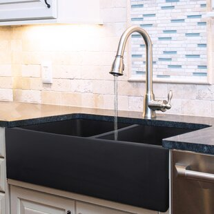 Black Farmhouse/Apron Kitchen Sinks You\'ll Love | Wayfair