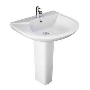 Bargain Anabel 630 Vitreous China 25 Pedestal Bathroom Sink with Overflow By Barclay