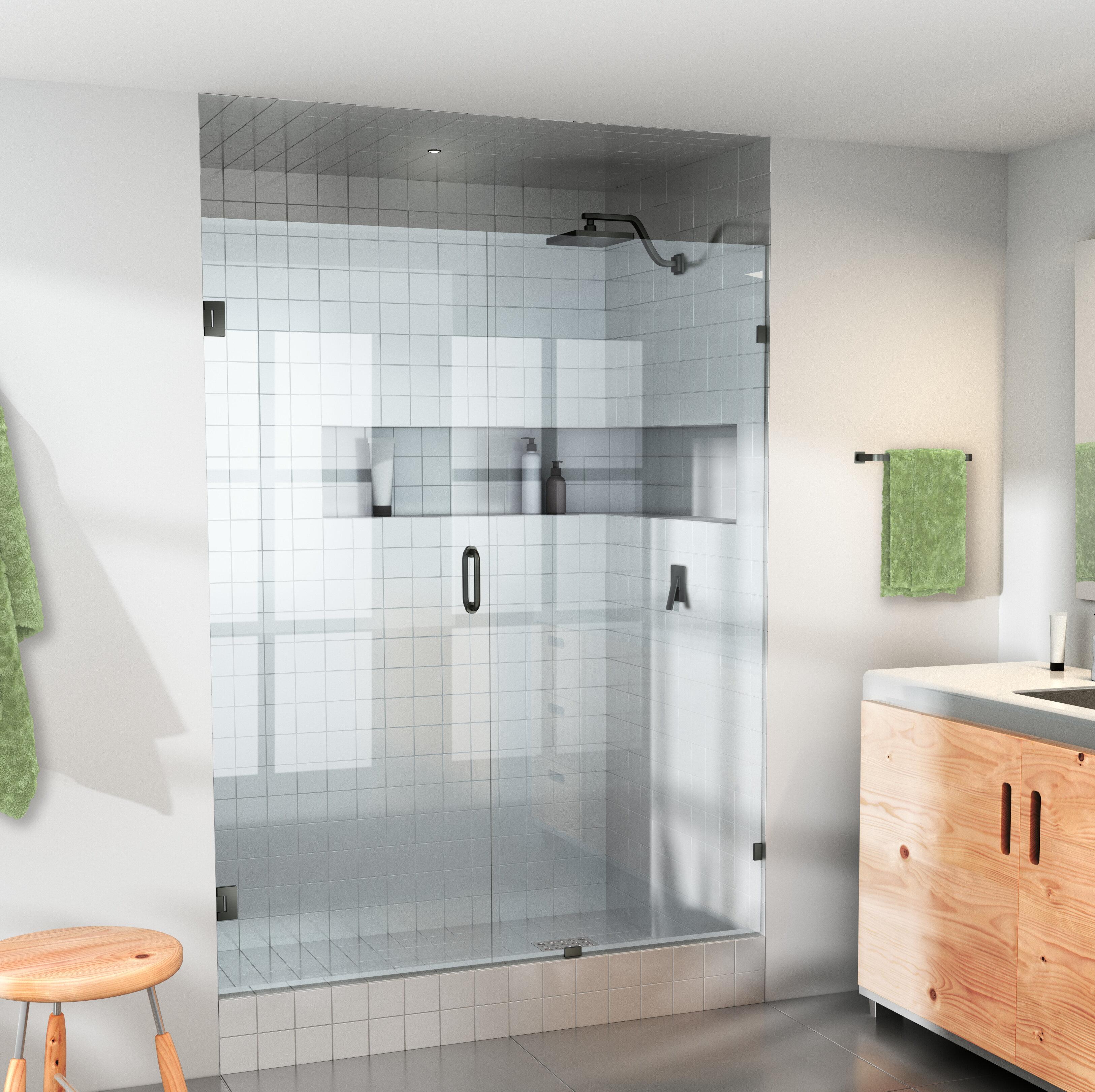 35 5 X 78 Hinged Frameless Shower Door