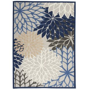 Weon Contemporary Flatweave Blue/Gray Indoor/Outdoor Area Rug