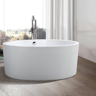 Reviews 59.1 x 59.1 Freestanding Soaking Bathtub ByVanity Art