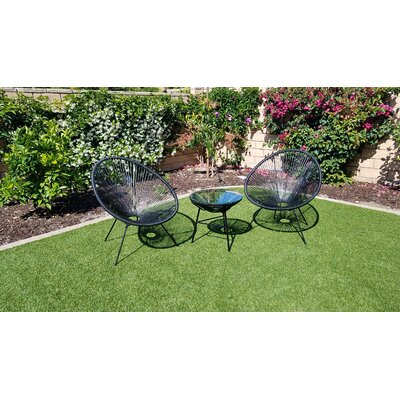 Sharlene 3 Piece Bistro Set by George Oliver Read Reviews