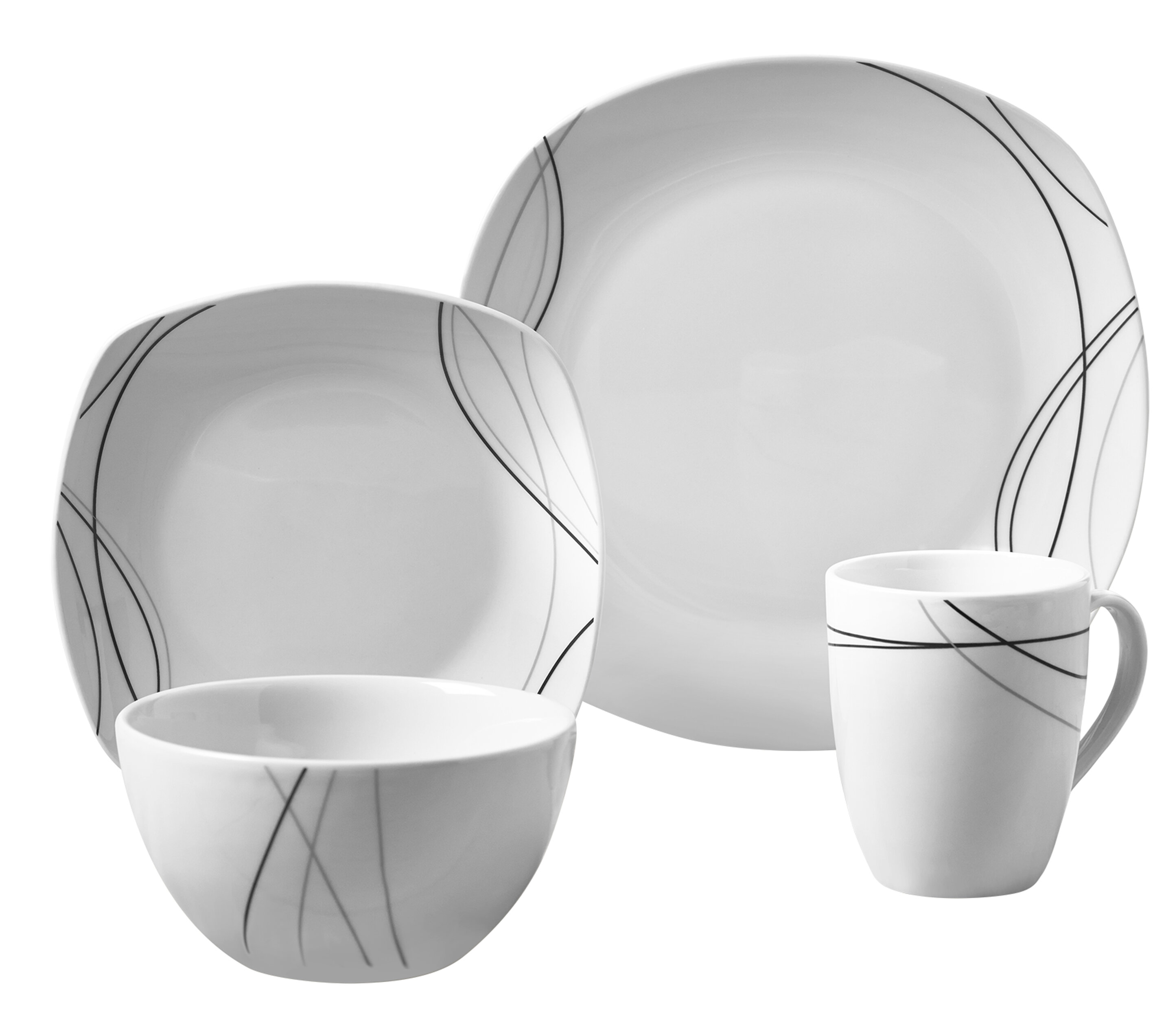 High Quality Alec 16 Piece Dinnerware Set, Service For 4. By Tabletops Gallery