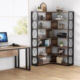 Dellinger 71.65'' H x 38.38'' W Standard Bookcase by 17 Stories