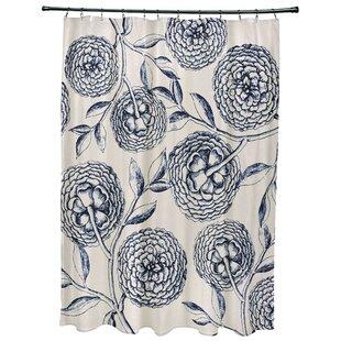 Chickamauga Antique Flowers Print Single Shower Curtain