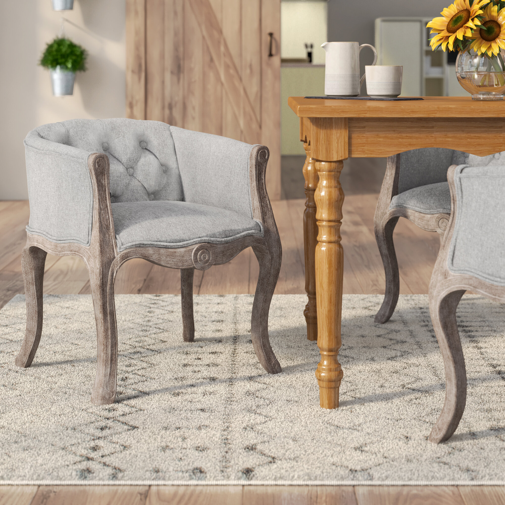 Ophelia & Co. Vasques Vintage French Upholstered Dining ...