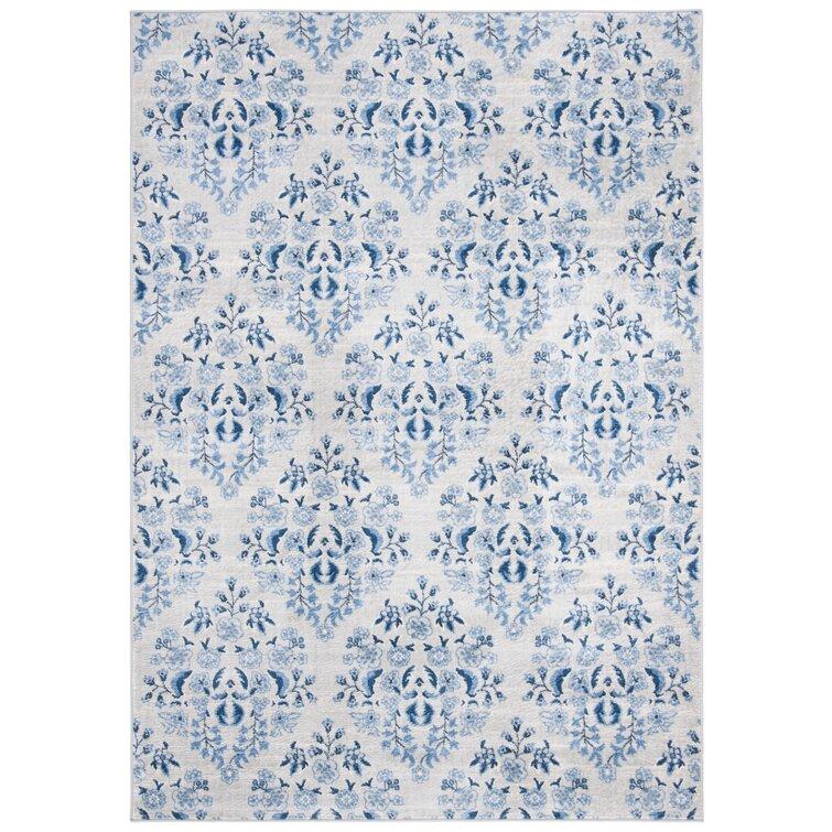 Lamartine Cream/Blue Area Rug