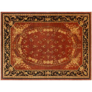 Read Reviews Grigori Hand-Knotted Wool Rust/Black Area Rug By Isabelline