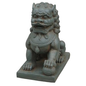 Foo Dog Left Paw on Ball Statue