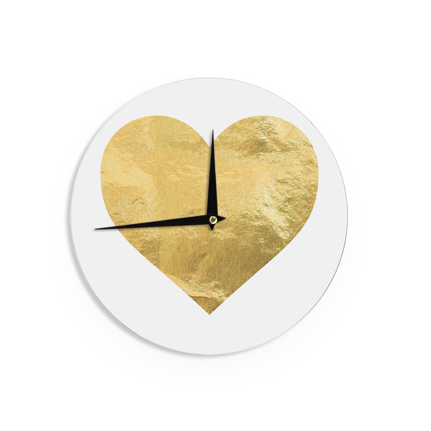 East Urban Home Heart Of Gold 12 Wall Clock Wayfair