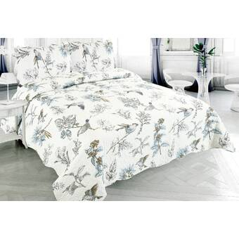 Wrought Studio Bruster Rich Printed Luxury Reversible Quilt Set Reviews Wayfair