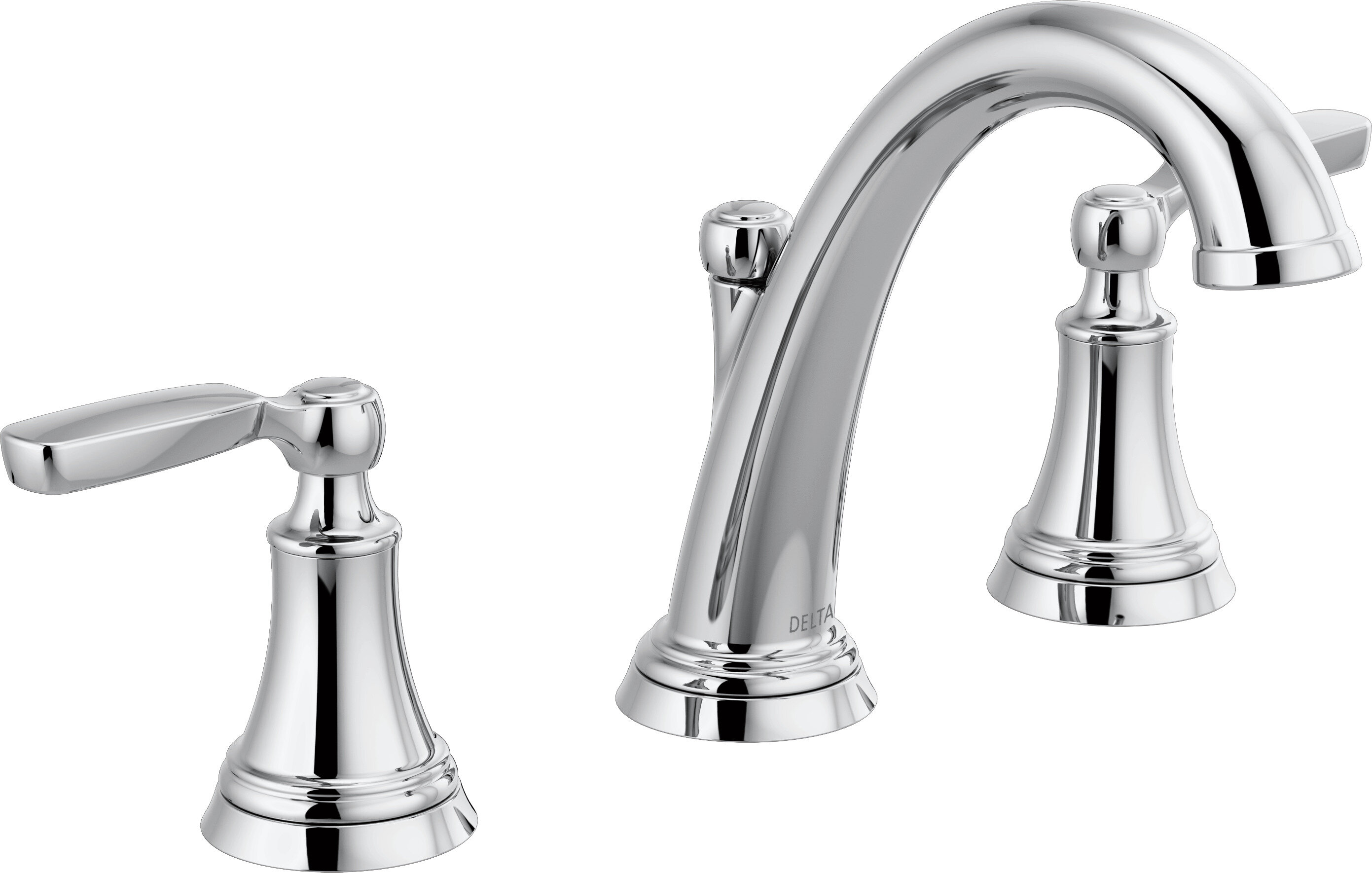 Delta Woodhurst Widespread Bathroom Faucet with Drain Assembly ...