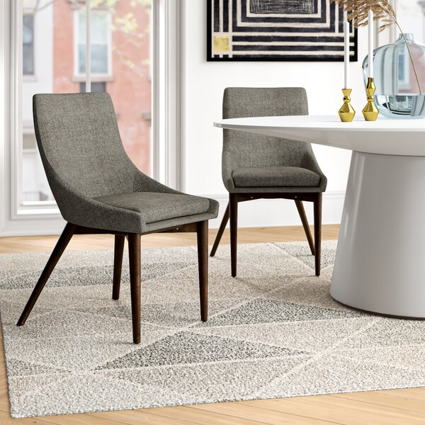 Wade Logan Pelham Cotton Upholstered Side Chair In Gray Reviews Wayfair