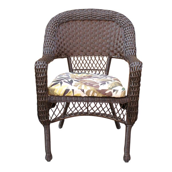 Bay Isle Home Pellham Resin Wicker Stacking Patio Dining Chair With Cushion Wayfair