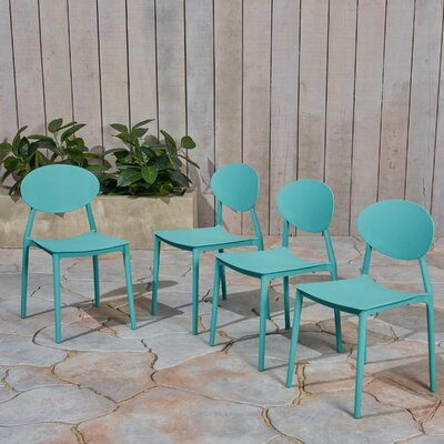 Patio Dining Chair Ebern Designs Color Teal