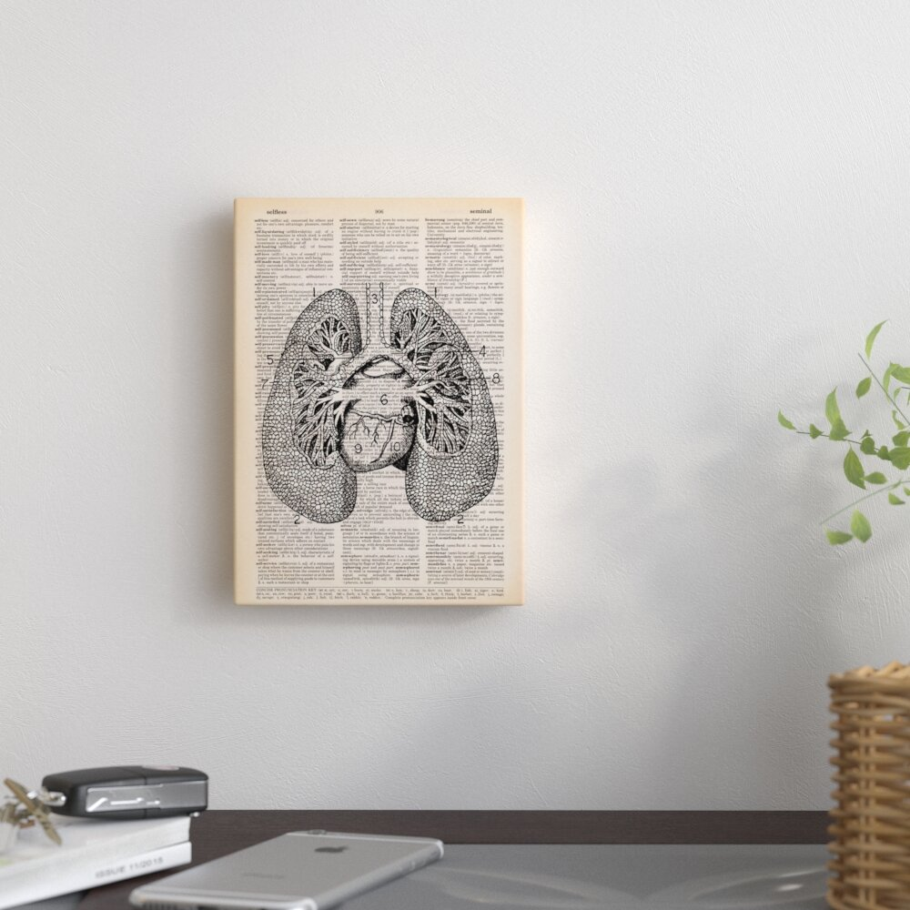 East Urban Home Lungs By Book Dictionary Art Graphic Art