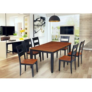 Hassett 7 Piece Extendable Solid Wood Dining Set by Alcott Hill Great Reviews
