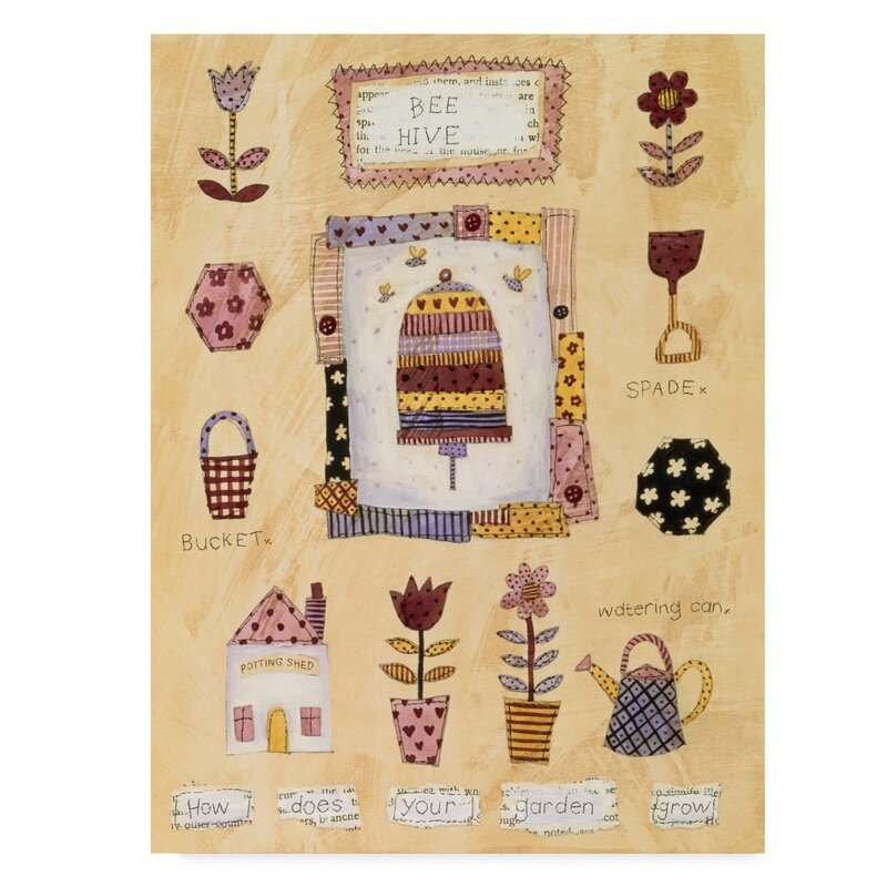 Trademark Art Bee Hive Graphic Art Print On Wrapped Canvas Wayfair
