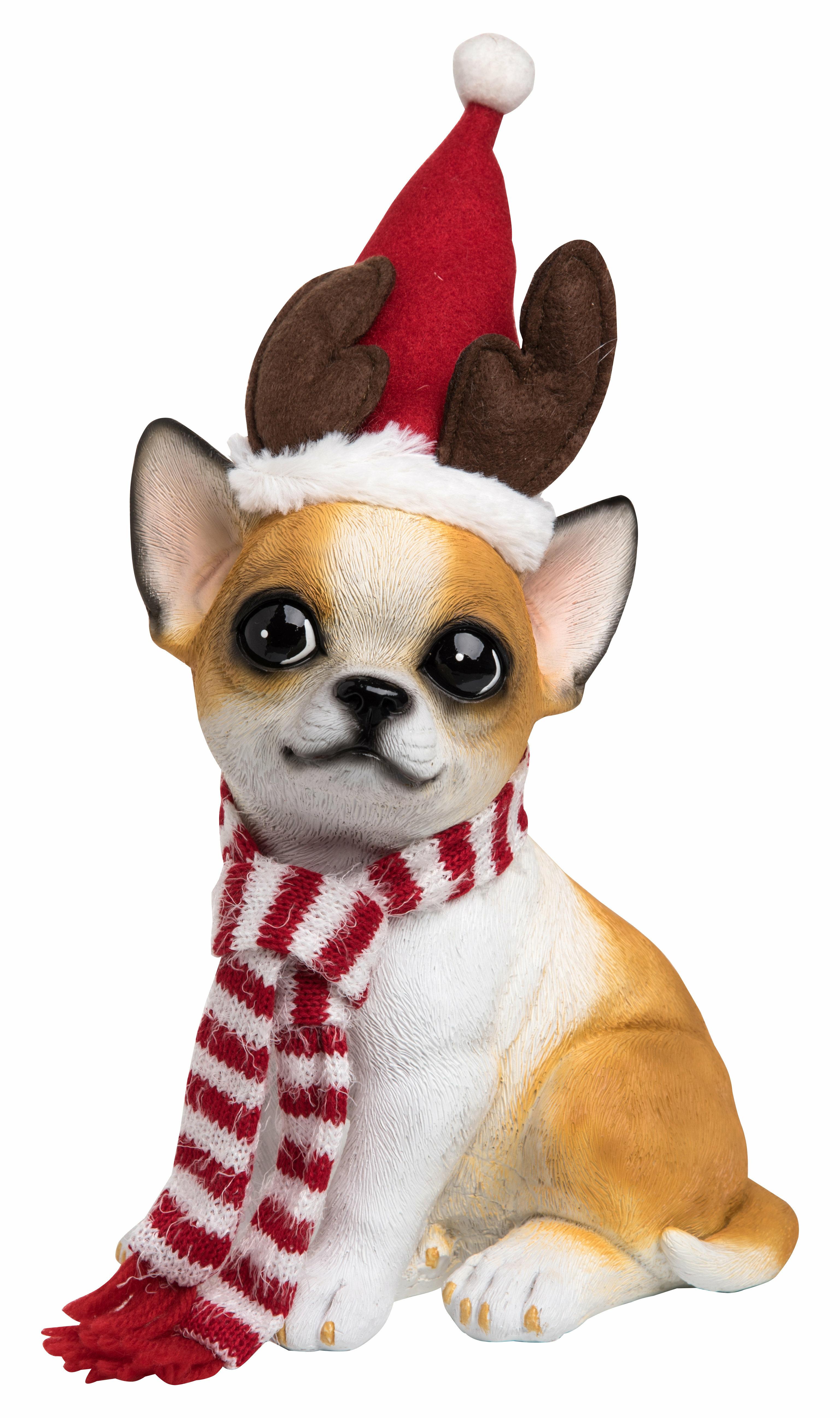 The Holiday Aisle Resin Christmas Santa Hat Chihuahua Puppy Wayfair
