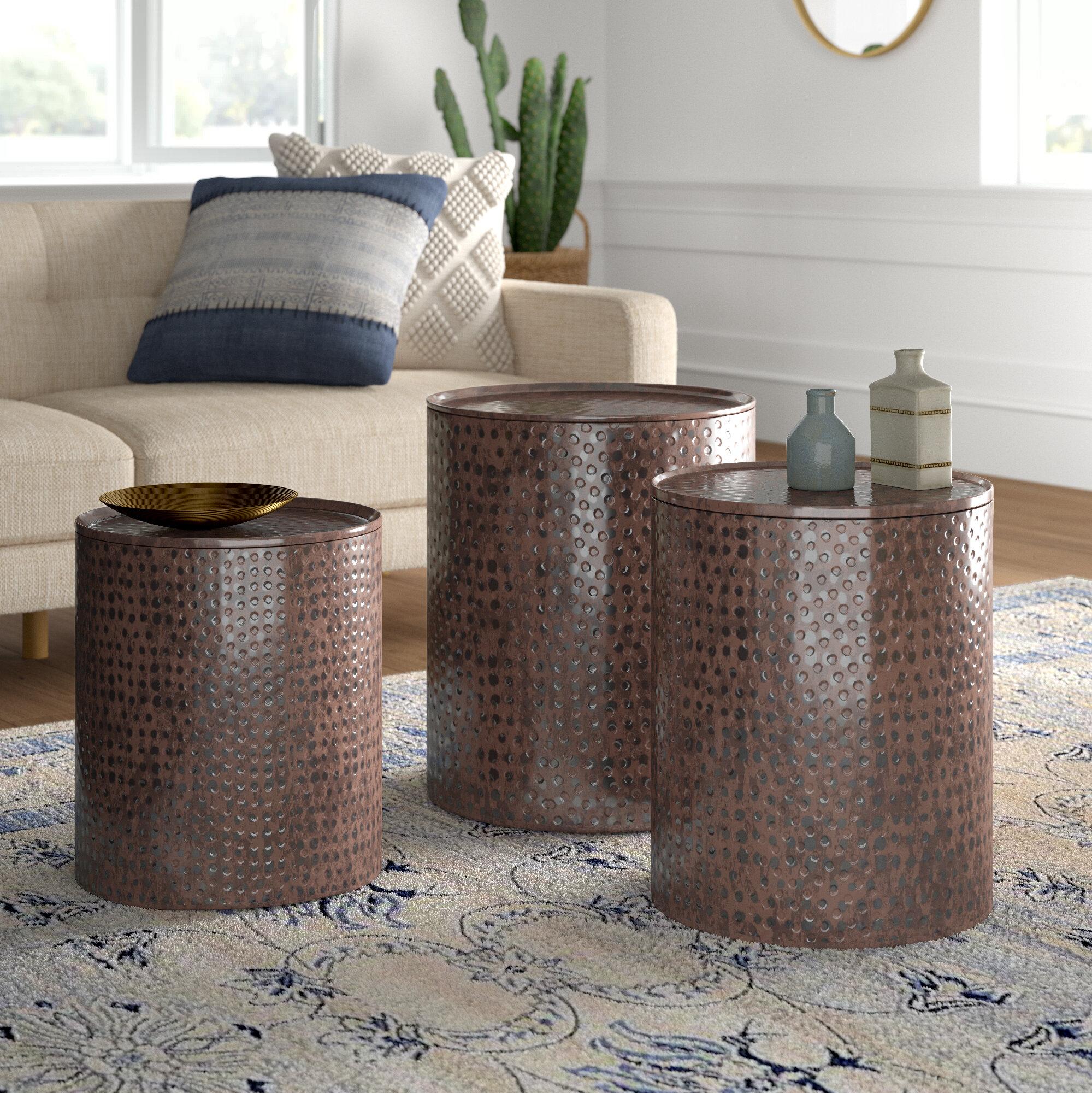 Incredible Mistana Adrianna 3 Piece Coffee Table Set Reviews Wayfair Bralicious Painted Fabric Chair Ideas Braliciousco