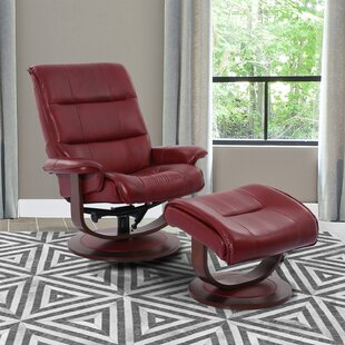 Bozrah Manual Swivel Recliner with Ottoman