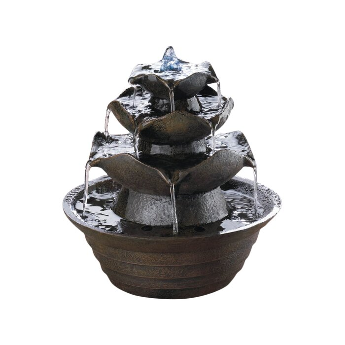 Tabletop Water Fountain Part - 47: Fibreglass Lotus Tabletop Water Fountain