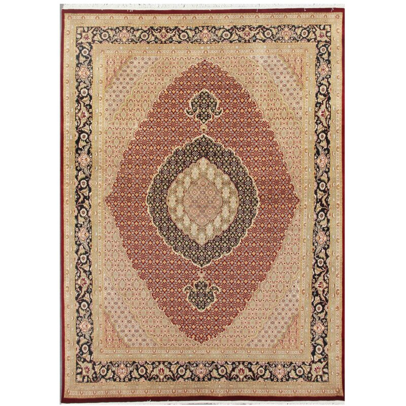 Pasargad Tabriz Hand Knotted Red Area Rug Wayfair