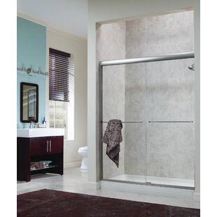 Brock 42 x 65 Bypass Frameless Shower Door by Hazelwood Home