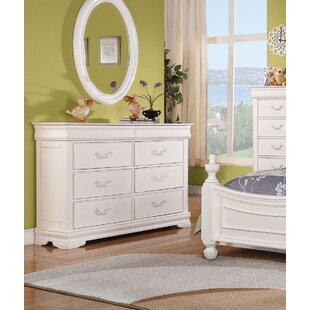Eusebio 6 Drawer Double Dresser with Mirror