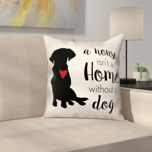 House Home Dog Throw Pillow in , Throw Pillow