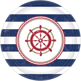 Summer Anchors Aweigh Paper Appetizer Plate (Set of 8)