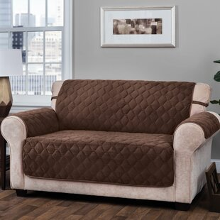 T-Cushion Loveseat Slipcover with Straps by Alcott Hill